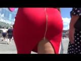 Зрелая мамка с большой красивой сексуальной попкой в юбке, милф milf mature sexy