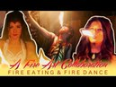 Fire Eating Tricks and Fire Dances Shade Flamewater Mini Azur Jessy Spin
