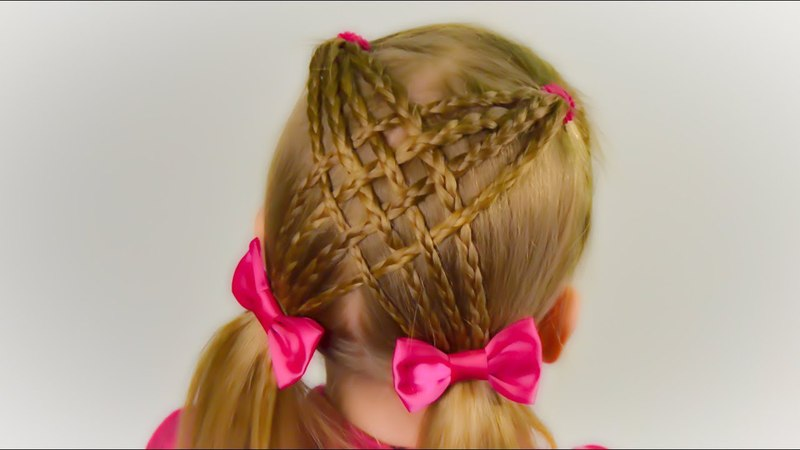 Criss Cross Braid with ponytails. Quick and Easy hairstyle for little princess 46