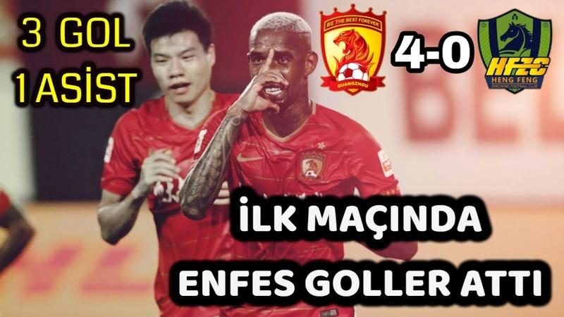 Talisca İlk Maçında 3 Gol 1 Asist ile Yıldızlaştı Guangzhou Evergrande
