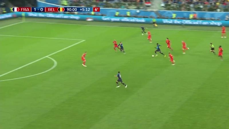Francia 1-0 Belgica Resumen del partido - FIFA World Cup 2018 (Semifinales)