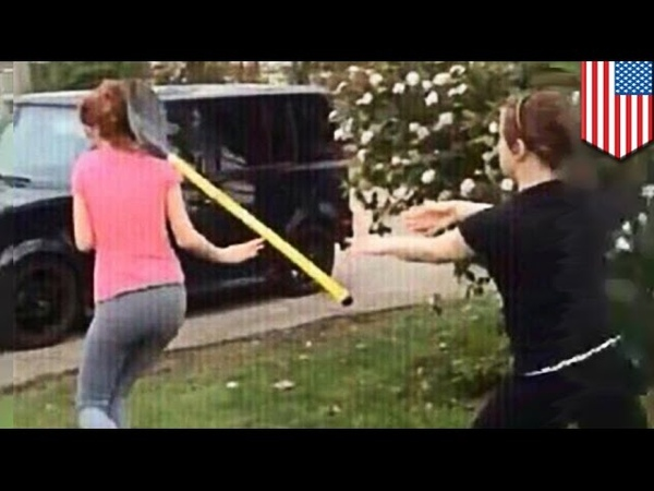 Fighting with shovels America is a stupid redneck Girl vs Shovel Thrower Girl fight caught on in Springfield, Ohio