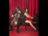 Lola Astanova & Stjepan Hauser Rachmaninoff - piano concerto No. 2 (1st mov)