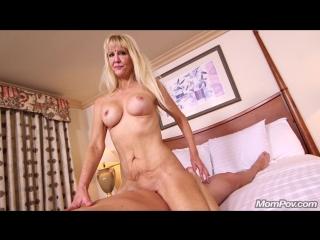 [Mompov.com] Cait (Busty blonde cougar does first porn) [2018 г.,720p Anal, Casting, Interview, Posing, POV, MILF, Sex, Porn]