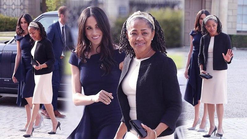 Королевская свадьба: Меган Маркл и ее мать приходят в свой отель после чая с королевой