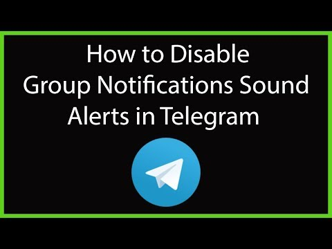 How to Disable Group Notifications Sound Alerts in Telegram