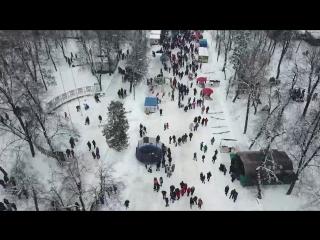 Масленница в Глухове 2018 - Аэросъемка