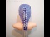 Красивое плетение с петлёй для волос