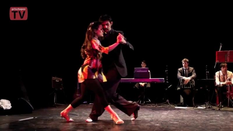Dana Frigoli Adrian Ferreyra 3 at the opening of White tango festival 2011 in Moscow (Russia).