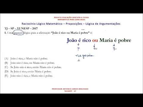 Aula 1 Proposição Raciocínio Lógico Matemática