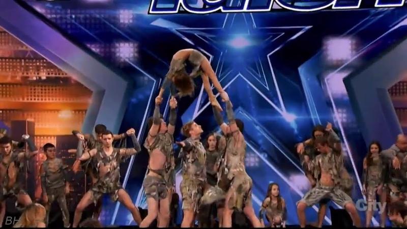 Zurcaroh Aerial Dance Group Performance Americas Got Talent 2018 Auditions