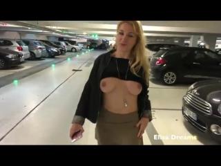 Flashing my body in public in a public parking