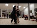 Sara Westin и Juan Pablo Canavire в танго-клубе Edissadni Tango - вальс