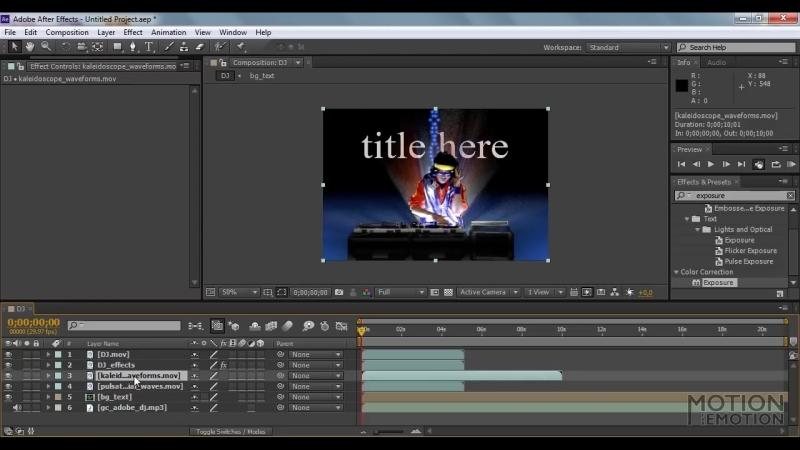 [Iliada] Уроки Adobe After Effects. Основы работы в программе