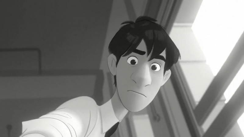 Бумажный человек Paperman (2012) короткометражный мультфильм Disney.wmv