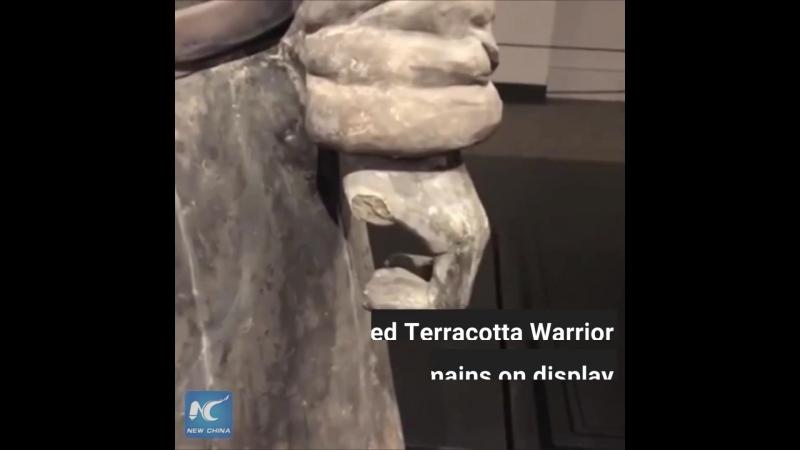 «Терракотовый воин» остался без пальца в США
