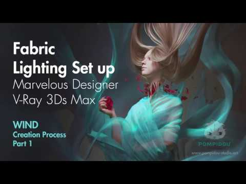 Fabric creation in Marvelous Designer. Work process on Wind. Part 1.