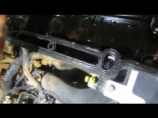 Почему течет масло из под клапанной крышки Опель Шевроле GM.mp4