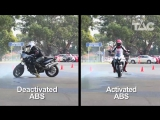 Motorcycle ABS demonstration