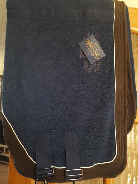 Продам новую шикарную флисовую попону-кулер Euroriding, темно-синюю, р
