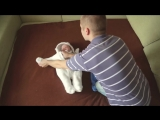 Мама была на работе, а папе было скучно_When dad alone with his baby