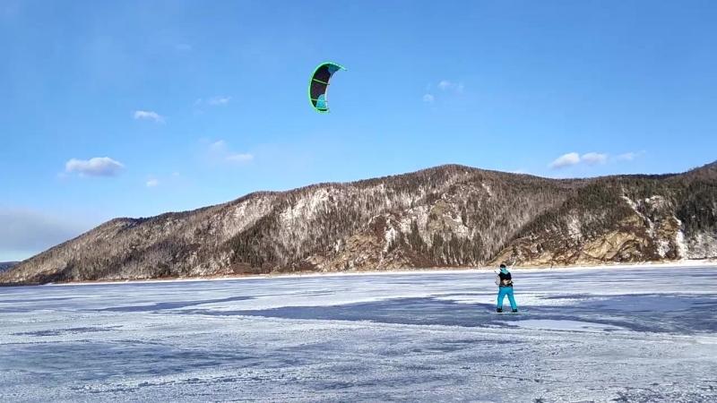 Snowkite session