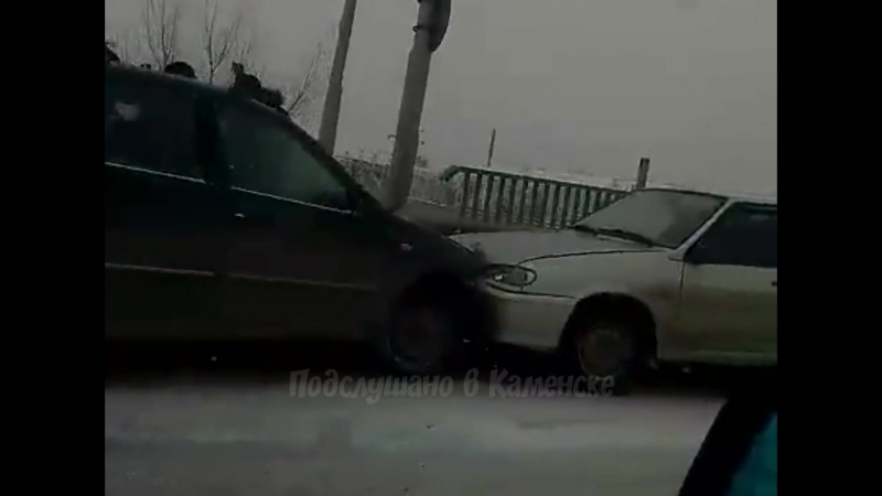 ДТП на виадуке в Каменске-Шахтинский 23.02.2018
