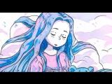 Акварельная иллюстрация - Девочка-дождик [by Daria GIFT]