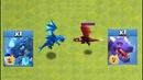 ELECTRO DRAGON VS DRAGON 1 VS 1 BATTLE CLASH OF CLANS TH12 UPDATE SIEGE WORKSHOP NEW TROOP