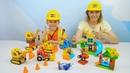 Строители LEGO DUPLO и Даник строят детскую площадку - Развивающее видео для детей