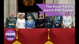 The Royal Family watch RAF flypast from Buckingham Palace balcony