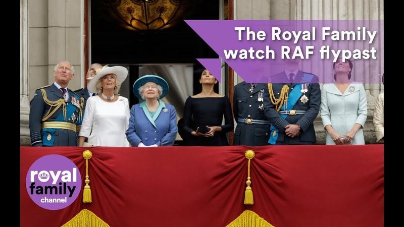 The Royal Family watch RAF flypast from Buckingham Palace balcony