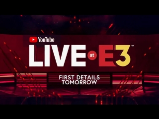 In just one week @YouTube Live at E3 returns! Tomorrow we share the first details on this