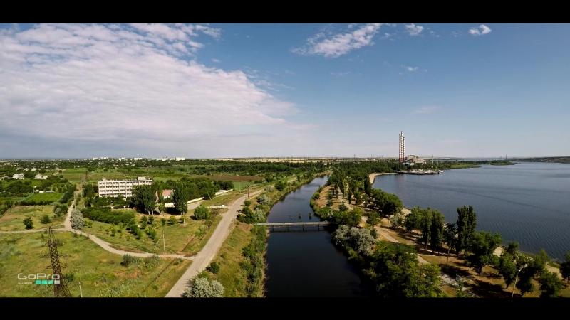 Днестровск 2018 с высоты птичьего полёта GoPro5 Karma VerVideo
