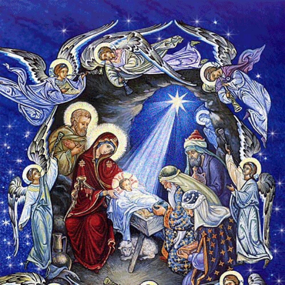 Днем рождения, открытки рождение иисуса