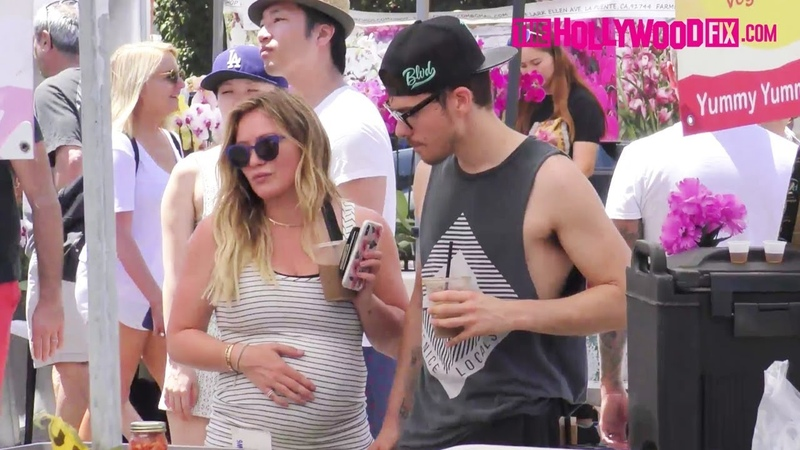 Hilary Duff Matthew Koma Reveal They Are Expecting A Baby Girl At The Studio City Farmers Market