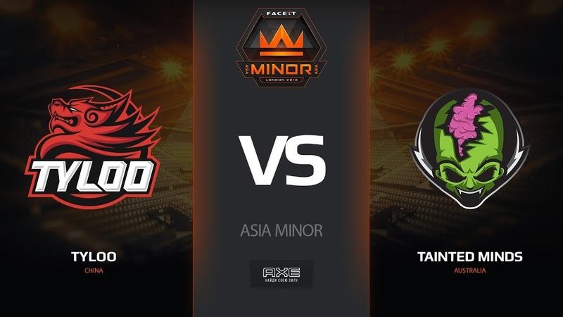 TyLoo vs Tainted Minds, map 1 cache, Asia Minor – FACEIT Major 2018
