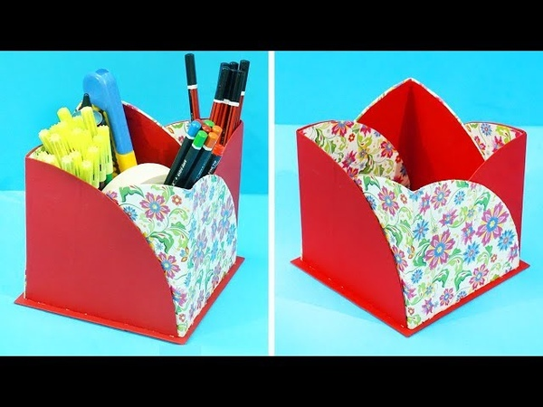 DIY Pen stand from Paper Waste Cardboard | How to make Pen Stand / Pencil Stand | DIY Paper Crafts