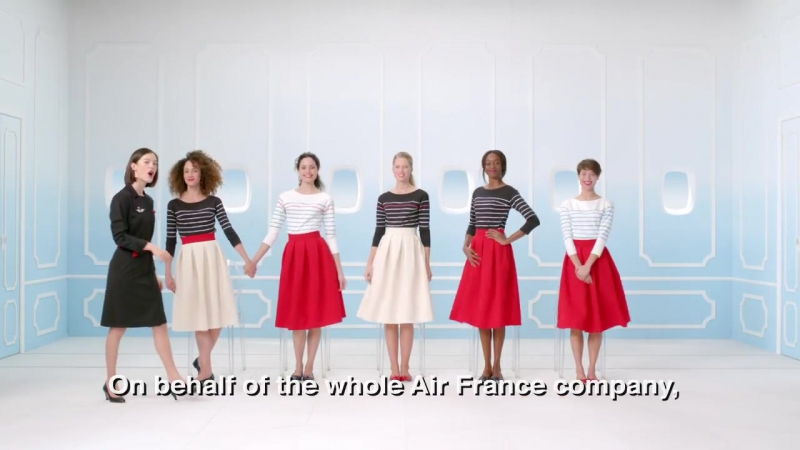 New Air France safety demonstration video