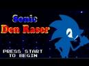 Sonic Den Raser Меню и Первый Уровень