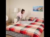 Как легко и быстро сложить постельное белье!