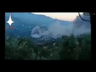 Pt. Video showing one missile fired by Israel striking military complex N. of Masyaf. Hama - Syria.