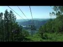 Канатно-кресельный подъемник. Спуск с горы Малая Синюха 1012 метров над уровнем моря. Часть 1