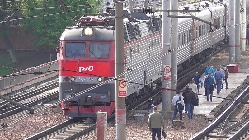 ЧС7-167 и Фирменный поезд «Приосколье» 057Ч, Старый Оскол — Москва