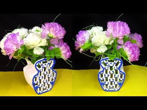 Best out of waste | Newspaper reuse idea | Flower vase DIY| Florero| फूलदान | Vaso de flores