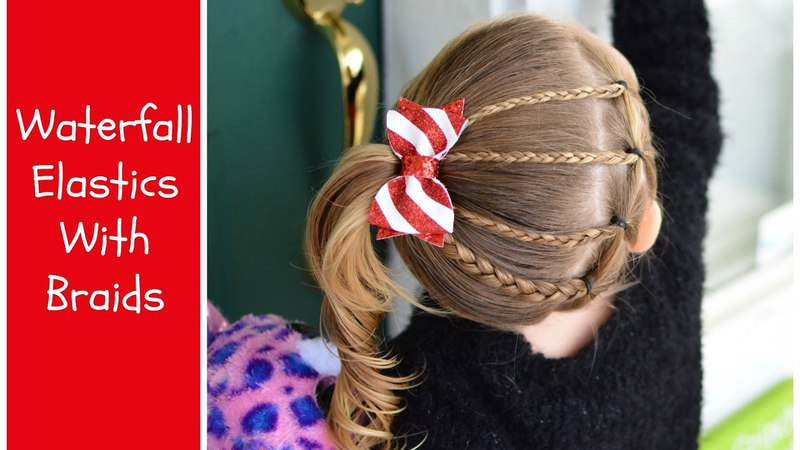 Toddler Hairstyle Waterfall Elastics With Braids