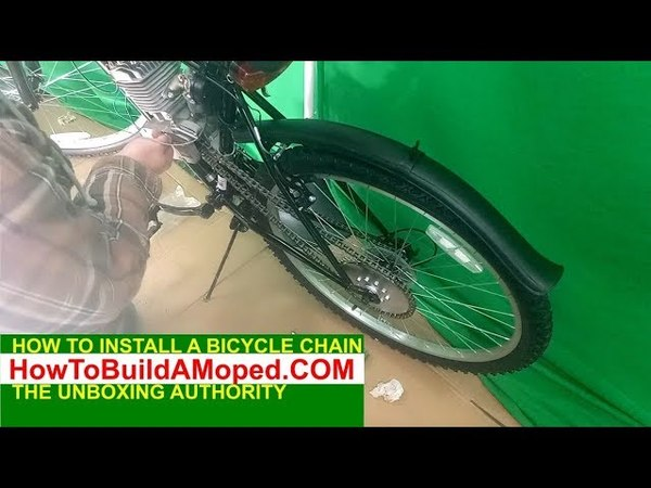 How To Install 415 Bike Chain Bike DriveChain How To Build a Motorized Bicycle Part 14