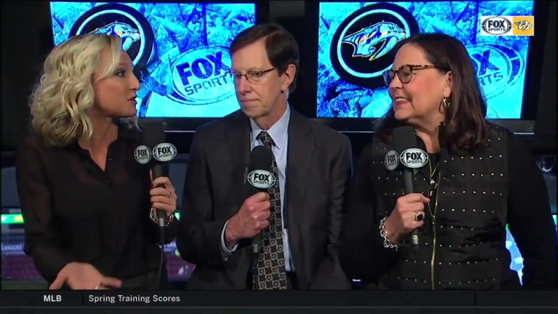 GM David Poile and his wife Elizabeth joined @LyndsayRowley at the desk to talk more about hitting 1320 last night in Edmonton!