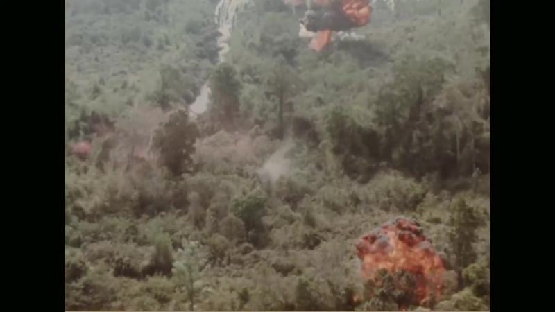 Бомбёжка вьетнамских джунглей пиндосами в марте 1965 года