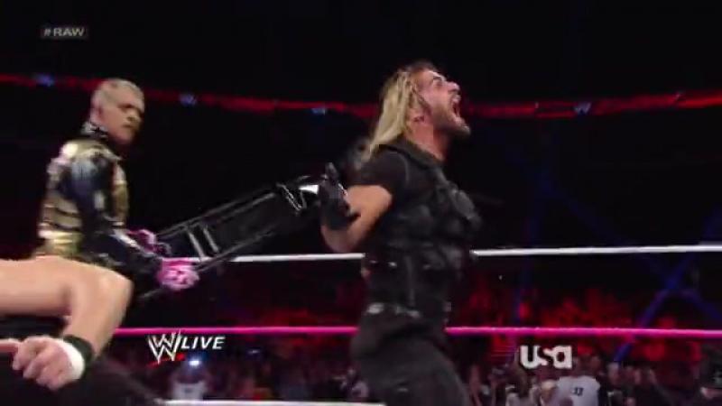 WWE Raw 14.10.2013 Щит Сет и Роман(ч)против Браства.Бой за комадные пояса без дисквалификации_1463